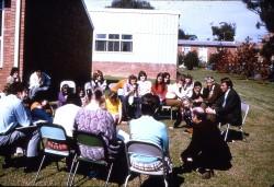 12 Rev Eldridge leading discussion group